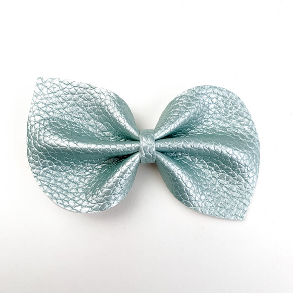 Soft Mint Pearl Metallic Large Reese Bow