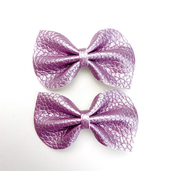 Wisteria Purple Mini Reese Bows (Set of 2)