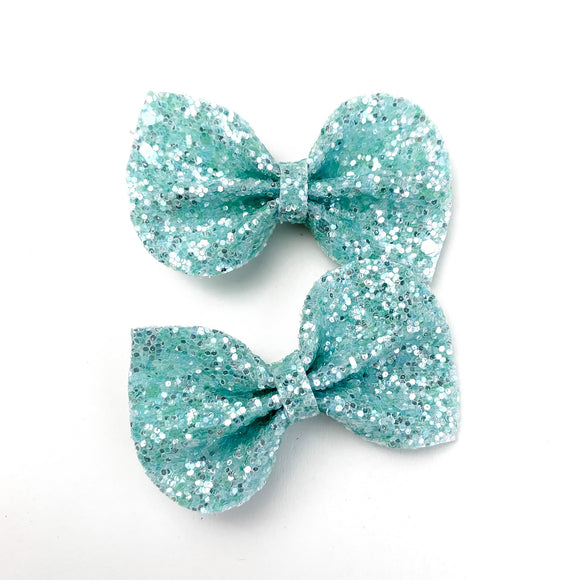 Misty Daydream Glitter Mini Reese Bows (Set of 2)