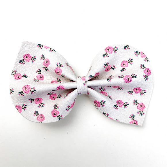 Vintage Mini Rosebuds Large Reese Bow