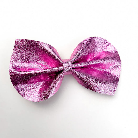 Magenta Metallic Medium Reese Bow