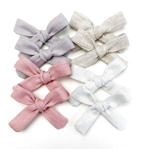 Spring Neutrals Mini Isabella Bow-Set of 4 (8 bows)