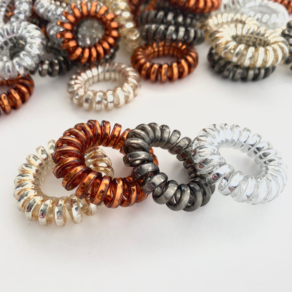 Metallic Spiral Twisted Hair Ties