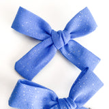 Carolina Blue Glitter Mini Isabella Bows