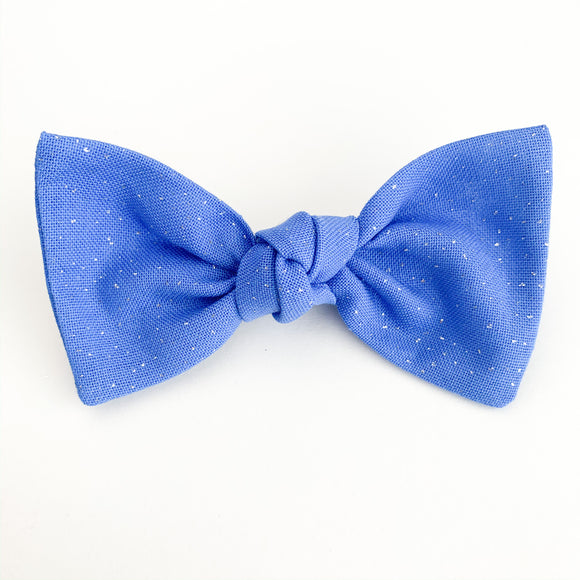 Carolina Blue Glitter Sydnee Bow