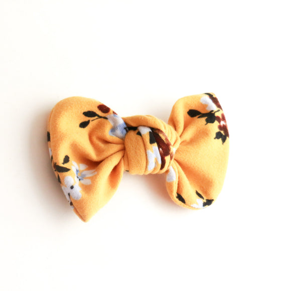 Mustard Floral Madison Bow