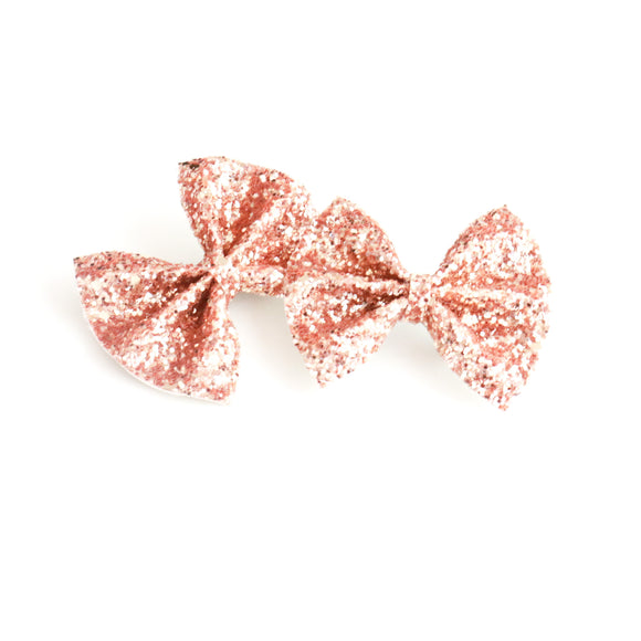 Autumn Sunset Glitter Mini Delilah Bow (Headband or Clip)