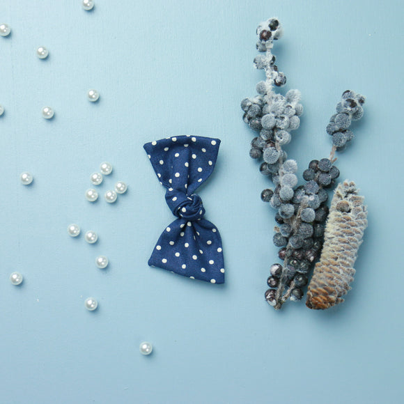 Navy Dot Sydnee Bow
