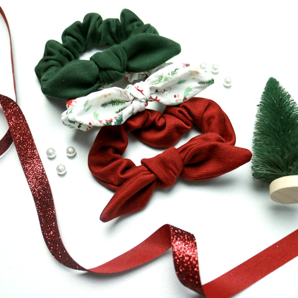 Christmas (Subscription Matched)- Bunny Ears - Scrunchie Set of 3