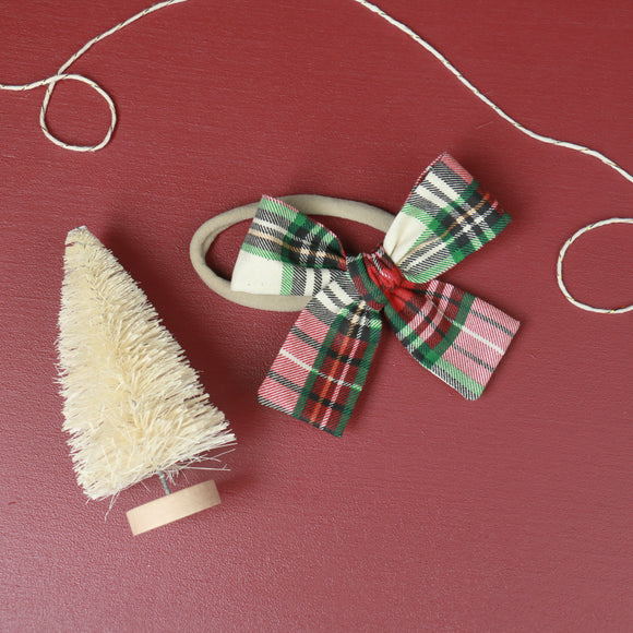 Classic Holiday Plaid Isabella Bow
