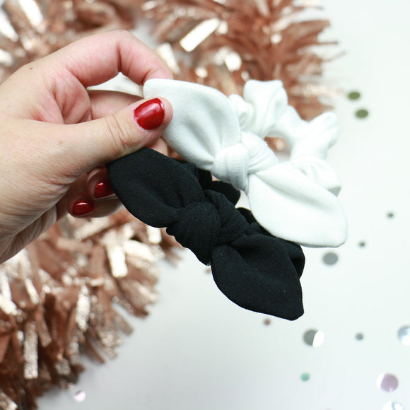 Black + White Scrunchie Set of 2