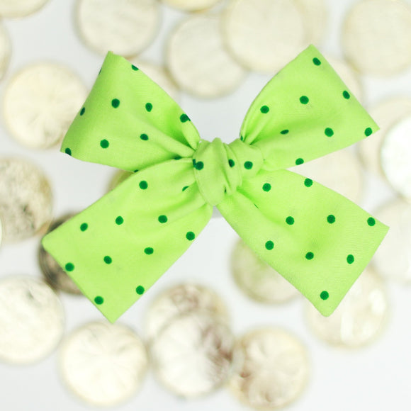 Green Dots Isabella Bow