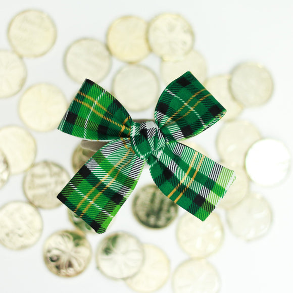 Leprechaun Plaid Isabella Bow