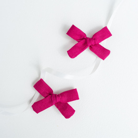 Magenta Linen Mini Isabella's (Set of 2 or Headband)