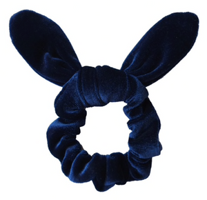 Royal Blue Velvet- Bunny Ears - Scrunchie
