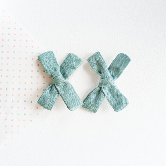 Seafoam Linen Mini Isabella's (Set Of 2 or Headband)