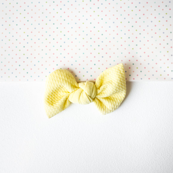 Soft Yellow Bullet Madison Bow