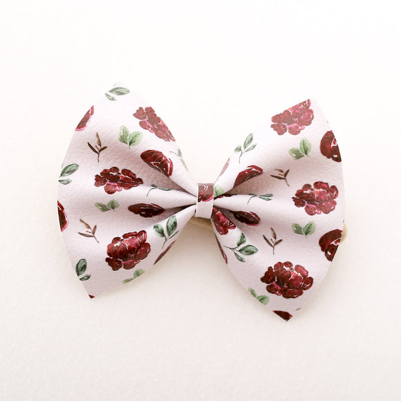 Tea Party Floral Delilah Bow