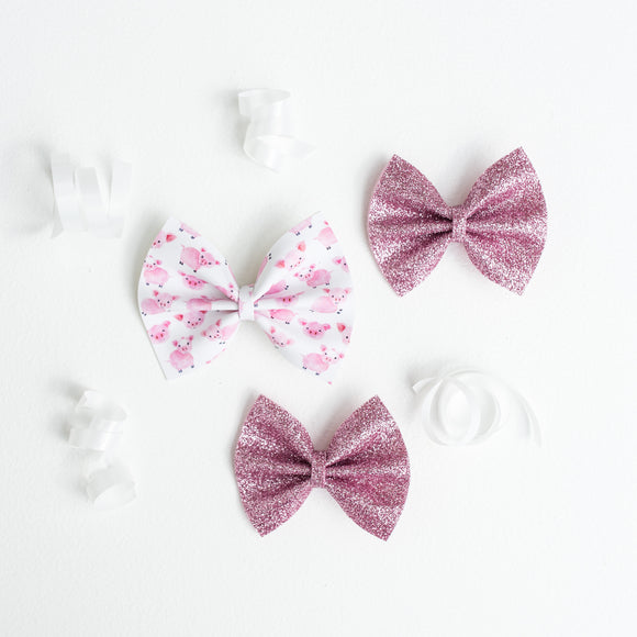This Little Piggy Bow Set (3 Bows)