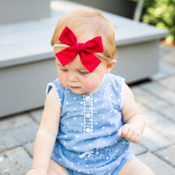 True Red Isabella Bow