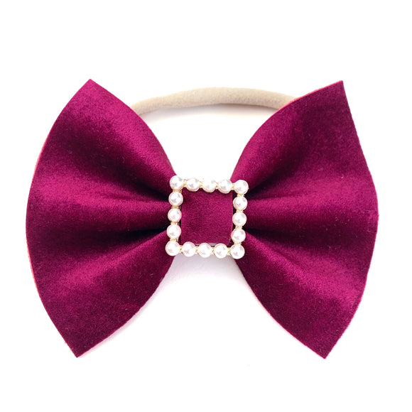 Elegant Mulberry Large Delilah Bow {Limited Edition}