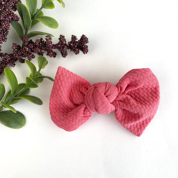 Dusty Rose Textured Madison Bow