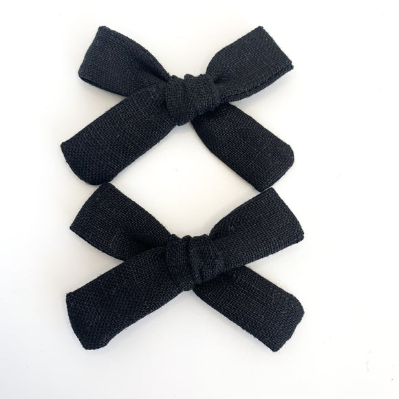 Black Linen Mini Isabella's (Set Of 2 or Headband)
