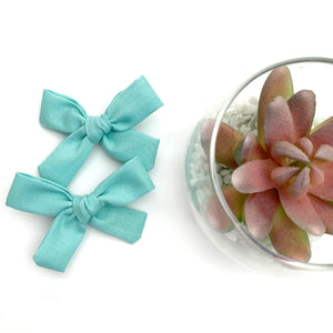 Robins Egg Blue Mini Isabella Bows