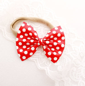 Mouse Dots Small Delilah Bow