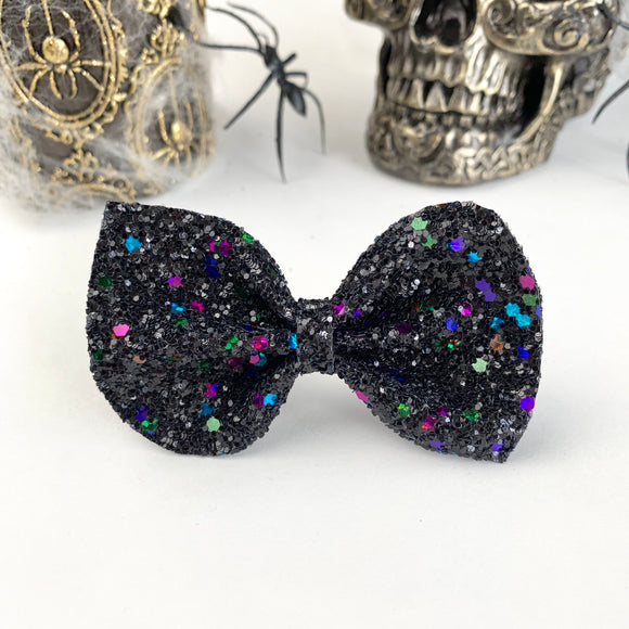 Black Magic Glitter Reese Bow (2 sizes)