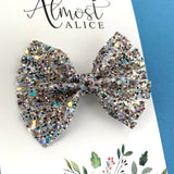 Disco Party Glitter Caroline Bow (2 sizes)