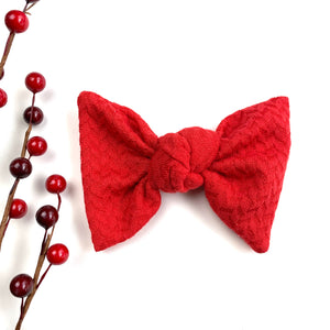 Red Sweater Samantha Bow
