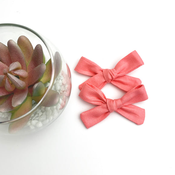 Light Coral Mini Isabella Bows