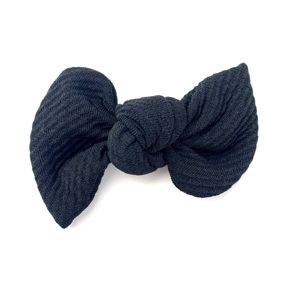 Black Textured Madison Bow