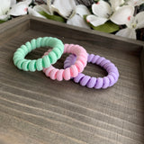 Colored Spiral Twisted Hair Ties