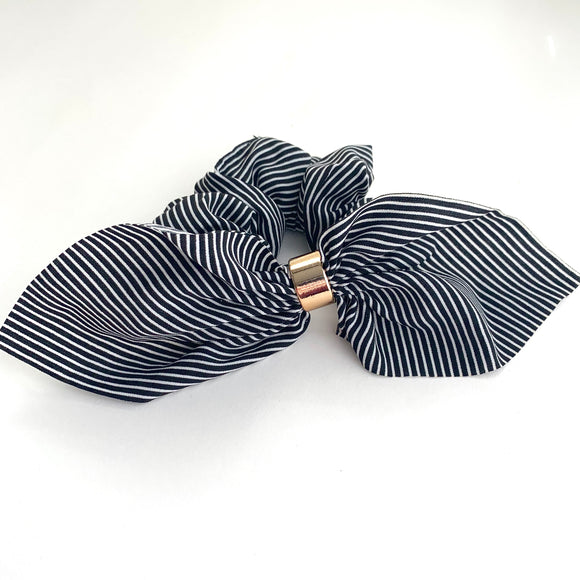 Black Stripe - Fancy Scrunchie