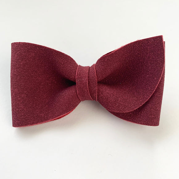 Burgundy Suede Kate Bow