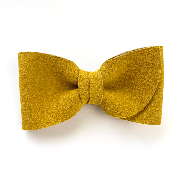 Mustard Suede Kate Bow