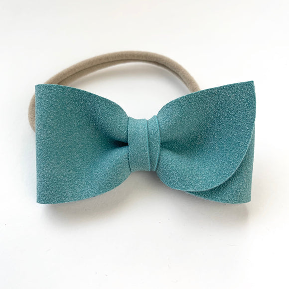 Topaz Suede Kate Bow