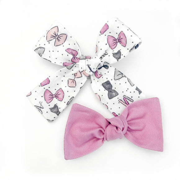 Almost Alice Branded Bow Set (Headbands or Clips)