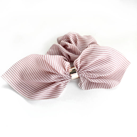 Blush Stripe - Fancy Scrunchie
