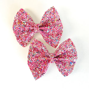 We Wear Pink Mini Delilah Bows (Set of 2)