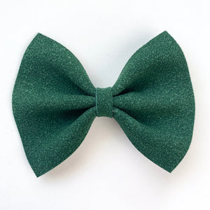 Evergreen Suede Delilah Bow