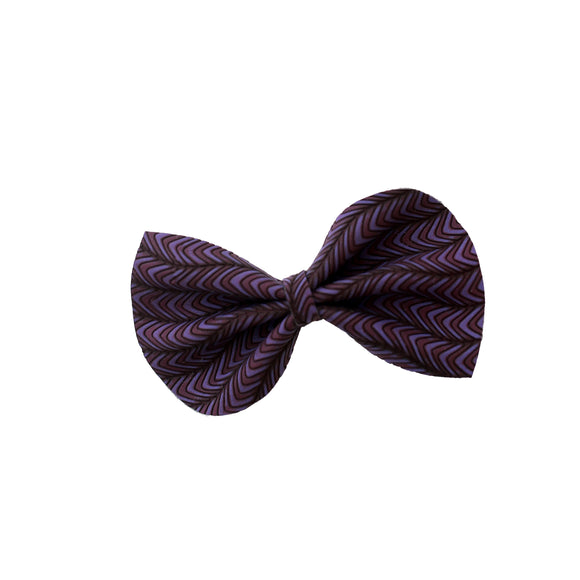 Purple Groovy Embossed Medium Reese Bow