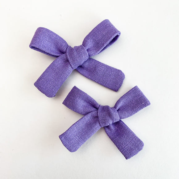 Purple Linen Mini Isabella's (Set of 2 or Headband)