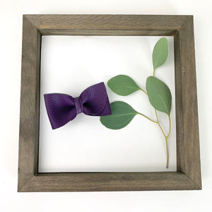 Eggplant Purple Pebbled Kate Bow