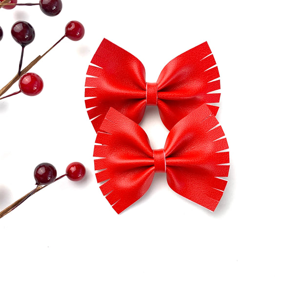 Candy Apple Caroline Bows (Set of 2)