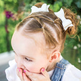 White Textured Kassidy Jane Bow