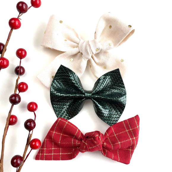 Holiday Gala Bow Set of 3
