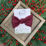 Maroon Sweater Samantha Bow